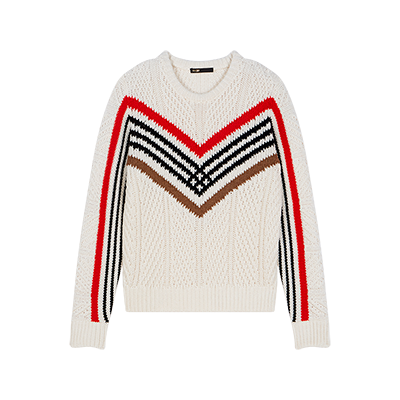 Twisted sweater with graphic motifs - Pullovers & Cardigans - MAJE